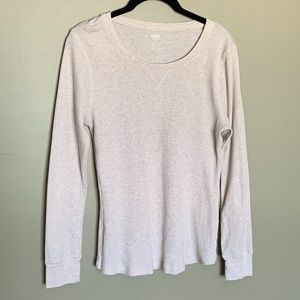 Old Navy oatmeal thermal long sleeve size large